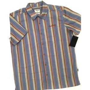 Hurley Cape Town Stripe Woven Shirt NWT